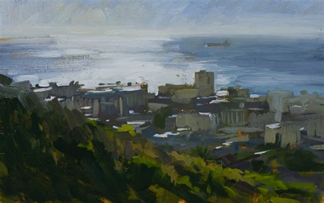 Landscape Sea Point Plein Air Painting In Cape Town South Africa Marc Dalessio