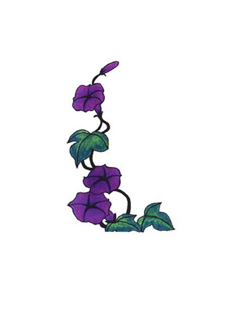 purple flowering vine tattoo free design ideas