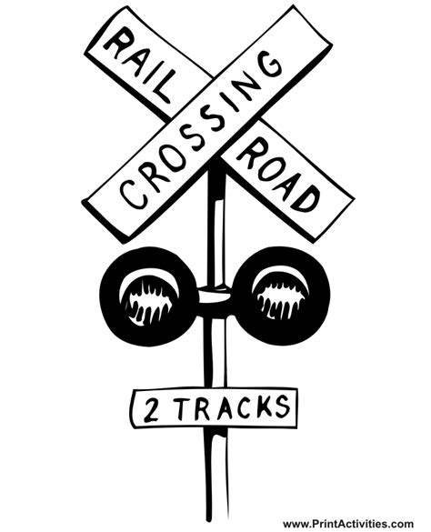 train crossing coloring page free coloring pages of rail road crossing sign