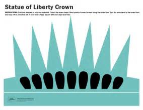free printable statue of liberty crown paging supermom