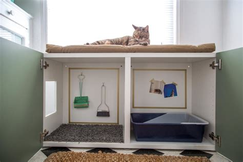 keeping litter box in bedroom expand storage with multipurpose furniture diy