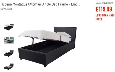 Single Ottoman Bed Argos Hygena Montague Ottoman Single Bed Frame For 163 119 99 Was 163 449 99 At Argos Co Uk Find It For Less