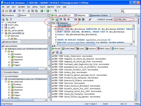display oracle sql output rows on one single line oracle sql developer exec stored procedure