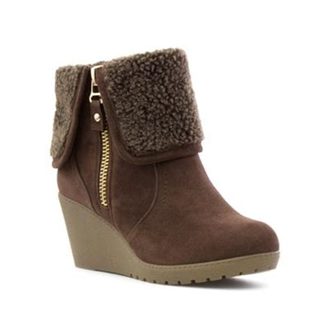 lilley womens brown wedge ankle boot 18169 shoe zone