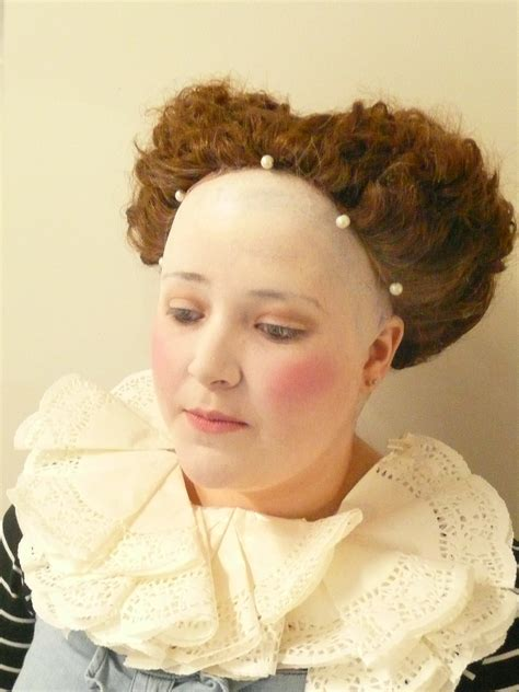 hairstyle for bald in forehead women elizabethan look bald cap topped with excellent