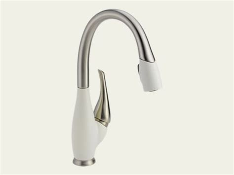 white pull kitchen faucet white kitchen faucets pull