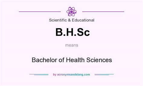 what does b h sc definition of b h sc b h sc stands for bachelor of health sciences