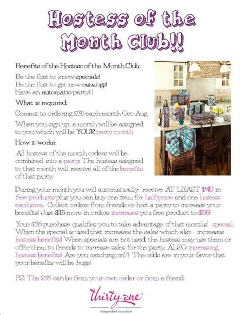 Like A Chic Bag Of The Month Club by 12 Best Hostess Of The Month Club Images On 31