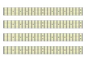 Printable Guitar Fretboard Template by Blank Guitar Fretboard Chart