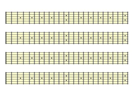 printable guitar fretboard template free fretboard sheets