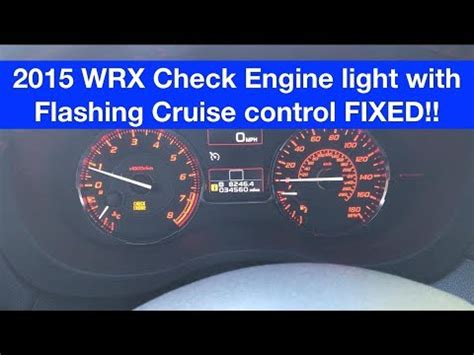 Subaru Check Engine Light Cruise 2015 subaru wrx check engine light with cruise