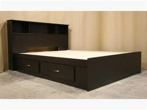 king size captains bed new espresso dark brown king size captains bed frame headboard richmond vancouver