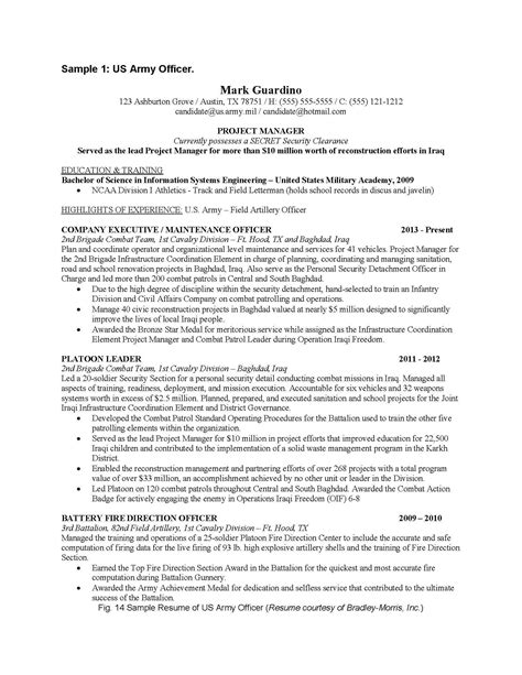 Infantry Resume by Infantry Resume Exles Picture Tomyumtumweb
