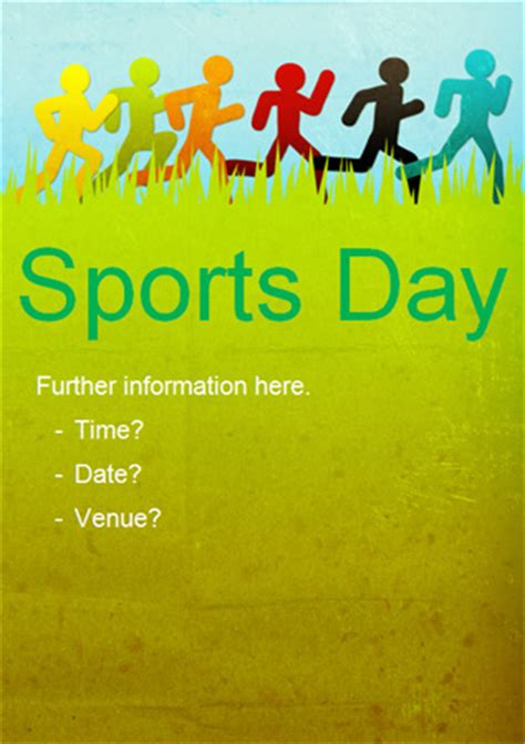 Sports Day Poster Template sports day run poster free early years primary teaching resources eyfs ks1