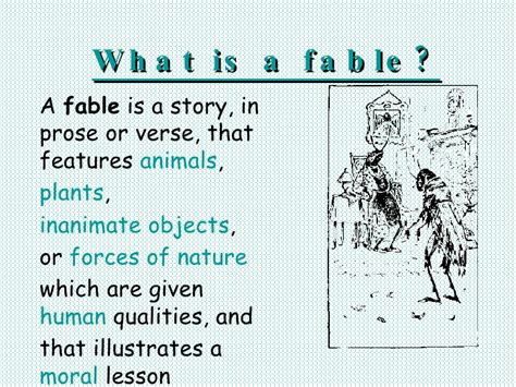 what is in a what is a fable