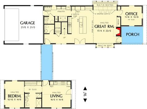 dogtrot floor plan unique dog trot house plan 69609am architectural designs house plans