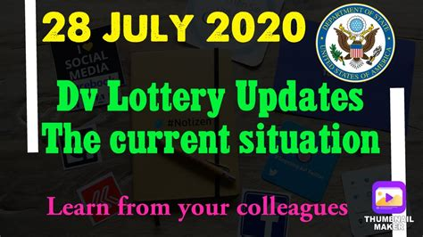 dv lottery  updates   current situation youtube