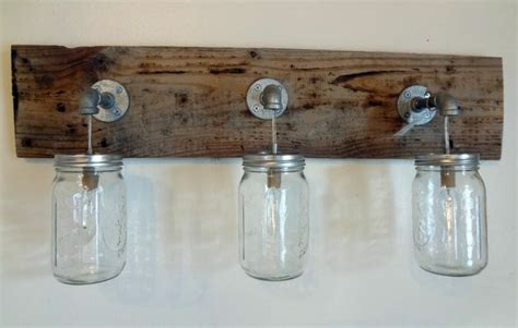 mason jar bathroom light fixture rustic bathroom vanity b crafts pinterest