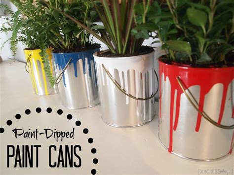 qt tutorial paint mini dipped paint can planters reality daydream