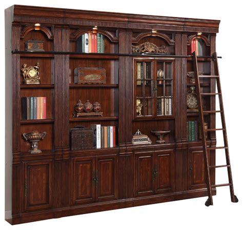 piece wellington library bookcase insert wall unit
