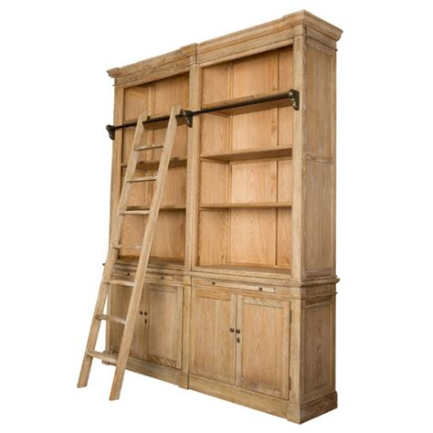 library bookcase with ladder library 2 tier oak bookcase with ladder temple webster
