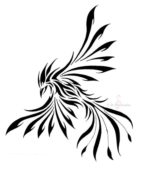 phoenix tribal tattoo cool tribal stencil
