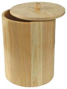 poubelle salle de bain bambou avec couvercle id 233 es de