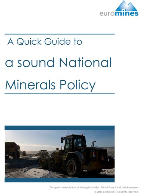 xml quick guide the first series of euromines quick guides is now