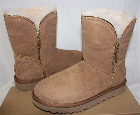 new ugg boots for ugg s florence chestnut suede boots size 11 new with
