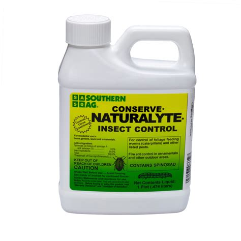 Spinosad Concentrate Southern Ag Conserve Naturalyte Insecticide For Vegetable Garden