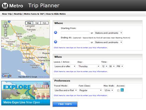 Metro Trip Planner Plan Metro Journey Subway Application