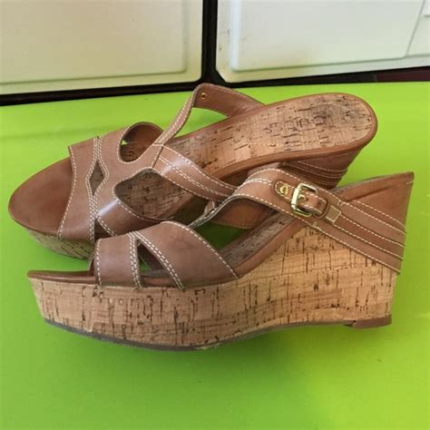 Wedges Brukat On29 45 77 guess shoes guess cork wedge from cate s closet on poshmark