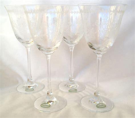 Portmeirion Botanic Garden Wine Glasses Nivag Collectables Portmeirion Botanic Wine Glasses X 4 Boxed
