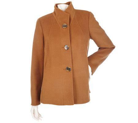 ellen tracy wool blend swing coat ellen by ellen tracy wool button front paneled swing coat