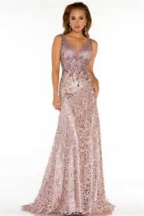 a line v neck long lace beaded special occasion