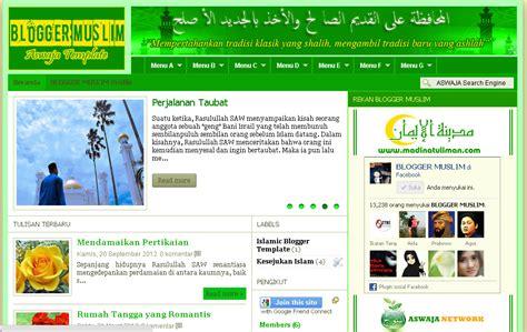 islamic templates for blogger new islamic blogger template aswaja blogger template