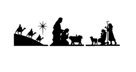 printable nativity scene silhouette free nativity clipart download clipart panda free