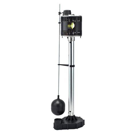 Pedestal Sump eco flo 1 3 hp cast iron pedestal sump epc33 the home depot