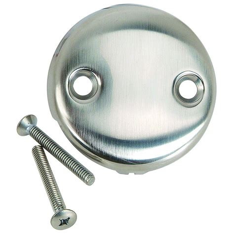 bathtub faceplate brasscraft overflow face plate with screws two hole with