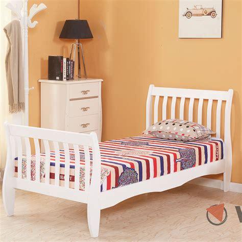 Boys Bedroom Furniture Uk by 3ft Single Wooden Sleigh Bed Frame Pine Bedroom Furniture