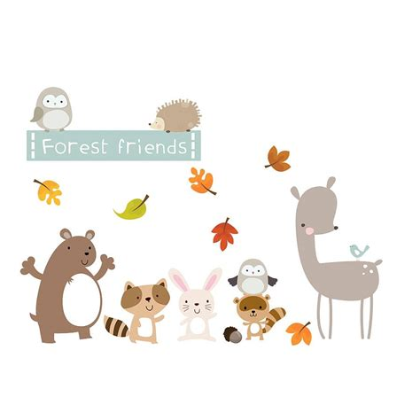 theme line forest friend forest friends fabric wall stickers by littleprints