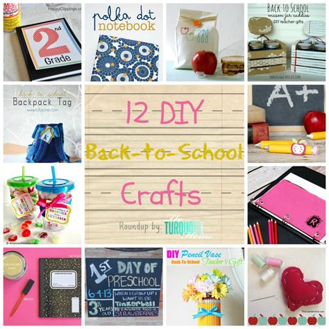 diy projects for high school diy back to school crafts roundup the turquoise home