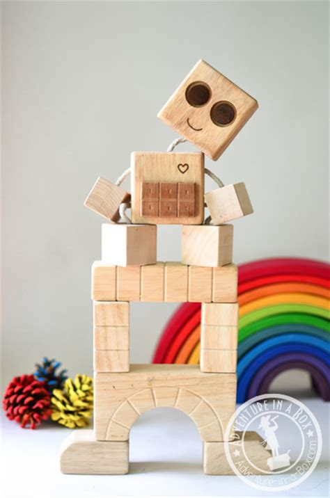pattern beatbox robot diy wooden robot buddy easy project for kids