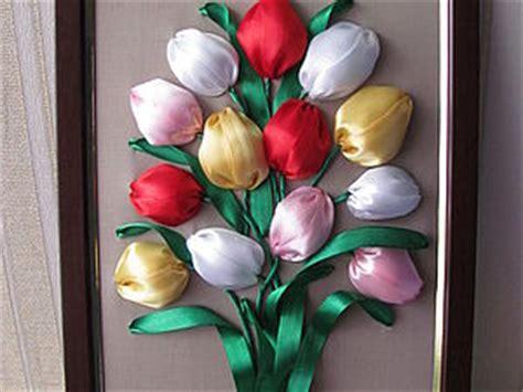 Тюльпаны из атласных лент своими руками для начинающих
