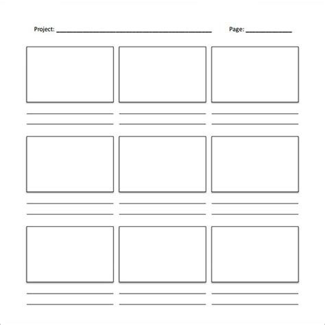 Free Storyboard Templates For Word storyboard template word sanjonmotel