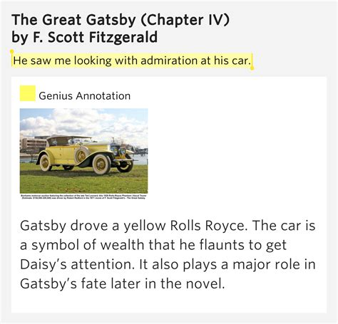 symbols in the great gatsby automobiles he saw me looking with admiration the great gatsby