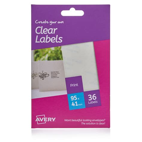 avery printable tags uk avery clear address labels rectangular deal at wilko