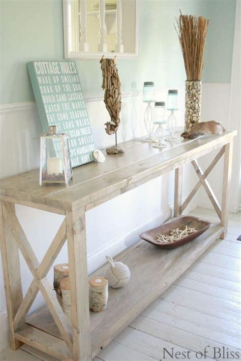 coastal decor table how to create a weathered wood finish home sweet home