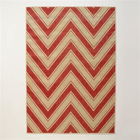 chevron rug 4 9 x6 9 chevron indoor outdoor rug world market