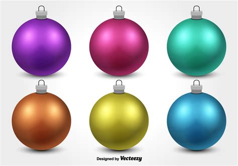colorful christmas ornament vectors download free vector